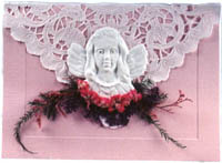 Angel ornament notecard
