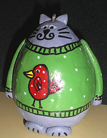 paper clay cat ornament craft
